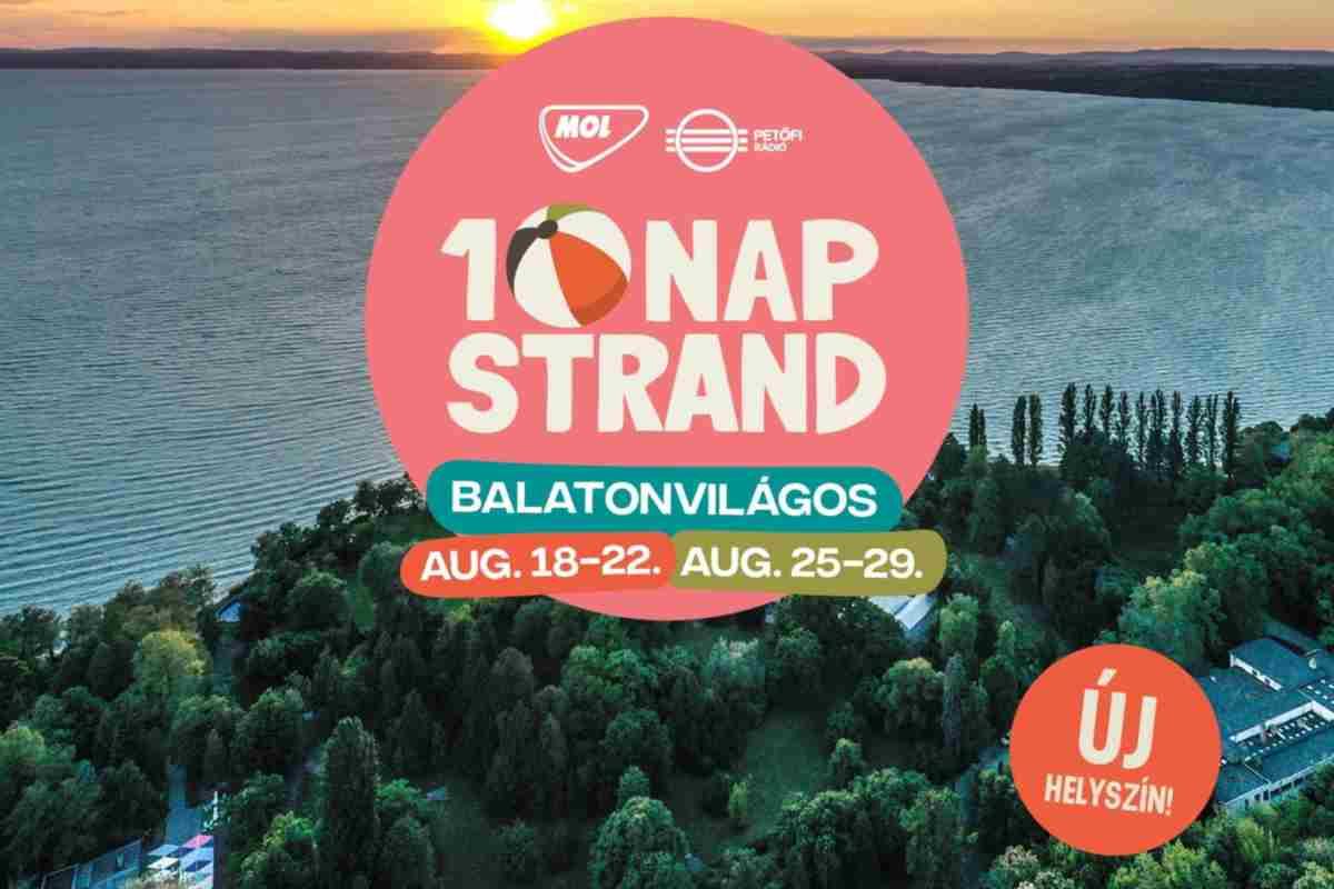 Balatonvilágoson rendezik meg a 10 Nap Strand fesztivált